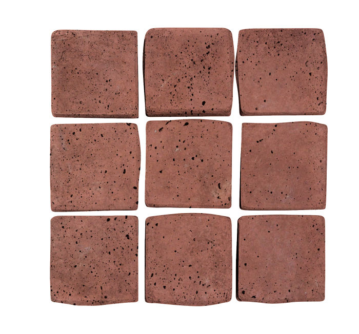2x2 Artillo Spanish Inn Red Travertine