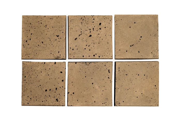 3.5x3.5 Artillo Caqui Travertine