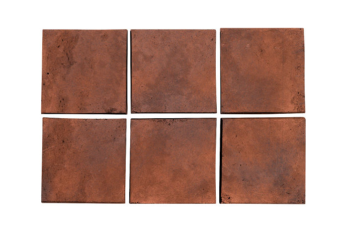 3.5x3.5 Artillo Red Flash Limestone