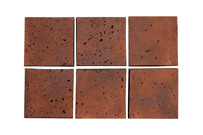 3.5x3.5 Artillo Red Flash Travertine