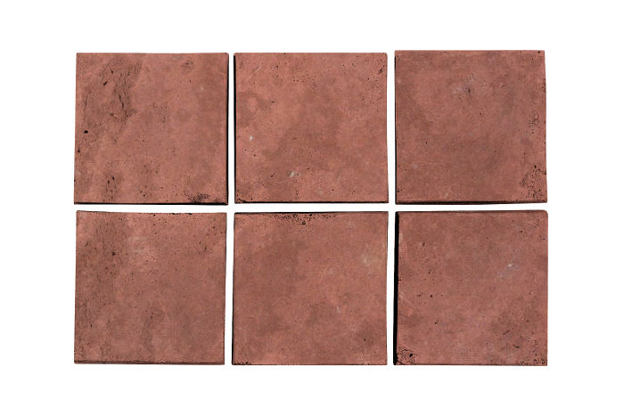 3.5x3.5 Artillo Spanish Inn Red Limestone