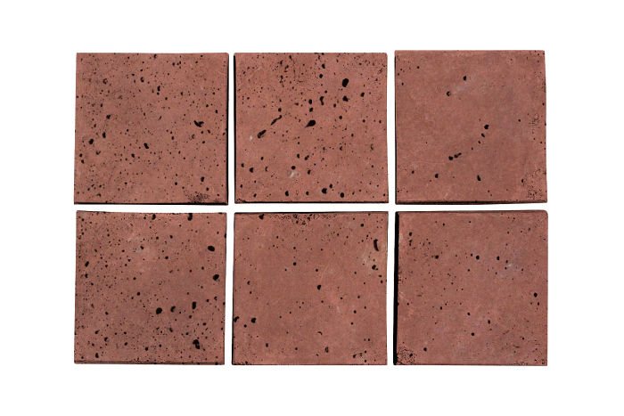 3.5x3.5 Artillo Spanish Inn Red Travertine