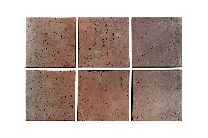 3x3 Artillo Beachwood Flash Travertine