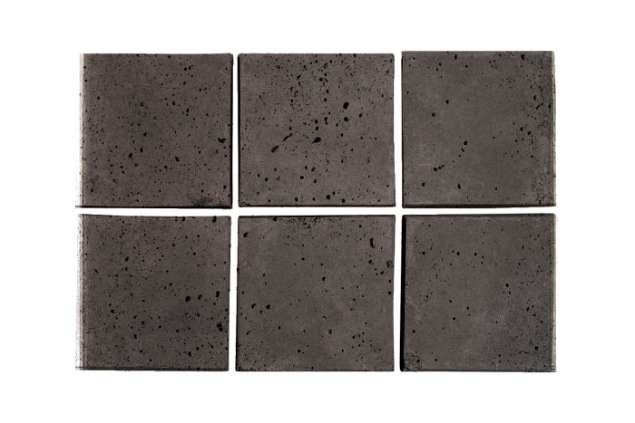 3x3 Artillo Charcoal Travertine