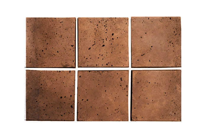 3x3 Artillo Cotto Dark Travertine