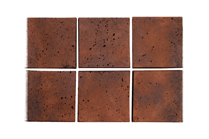 3x3 Artillo Red Flash Travertine