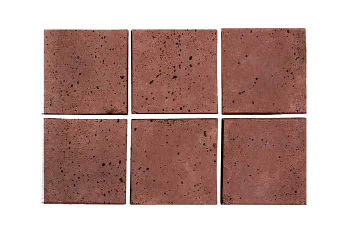 3x3 Artillo Spanish Inn Red Travertine