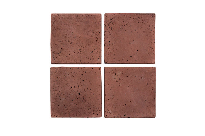 4x4 Artillo Spanish Inn Red Travertine