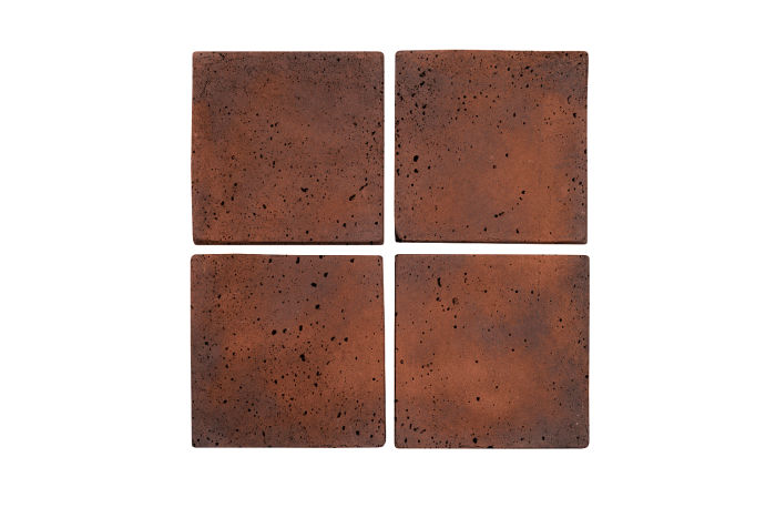 5x5 Artillo Red Flash Travertine