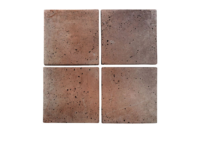 6x6 Artillo Beachwood Flash Travertine