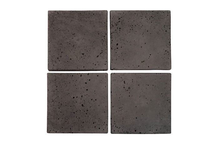 6x6 Artillo Charcoal Travertine