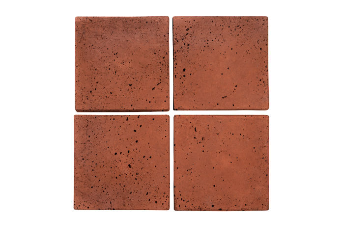 6x6 Artillo Mission Red Travertine