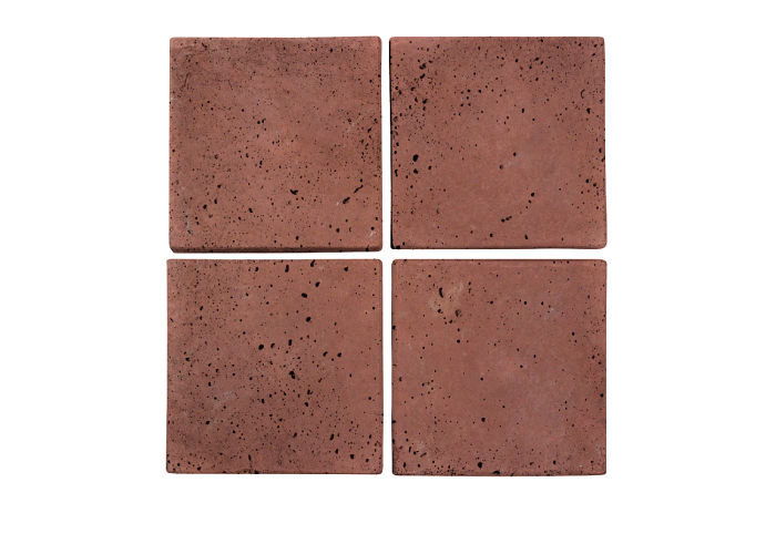 6x6 Artillo Spanish Inn Red Travertine