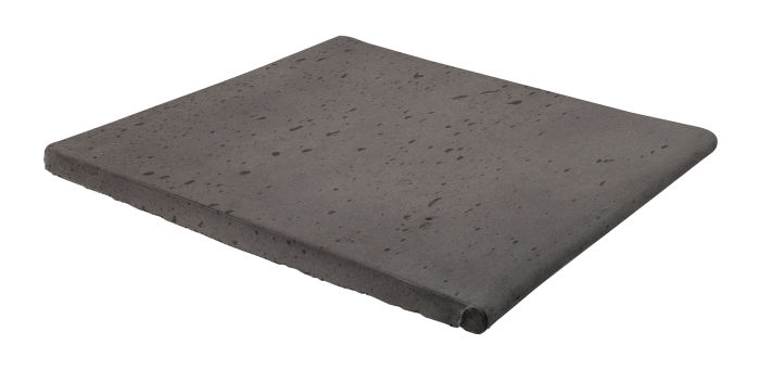 12x12 Step On Stairtread Charcoal Travertine
