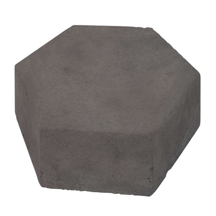 8x8 California Pavers Hexagon Charcoal