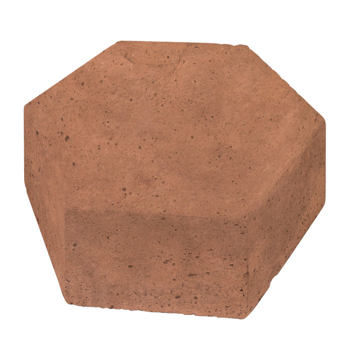 8x8 California Pavers Hexagon Cotto Gold