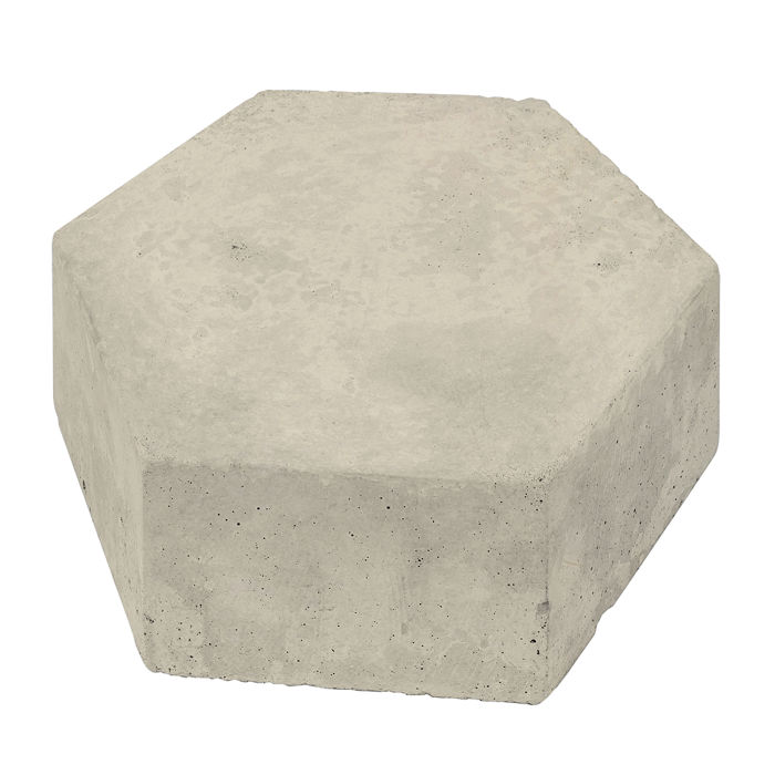 8x8 California Pavers Hexagon Early Gray