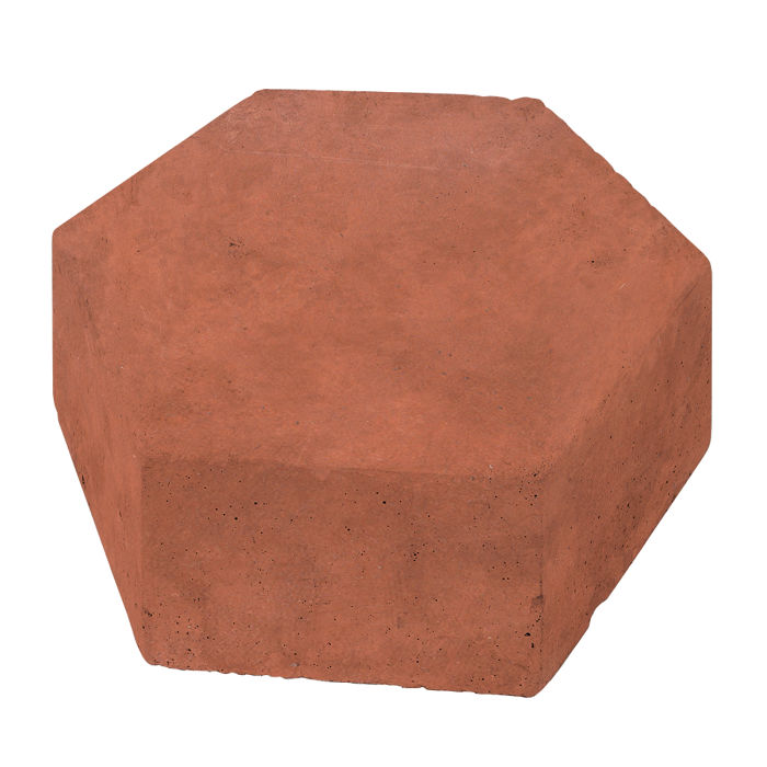 8x8 California Pavers Hexagon Mission Red