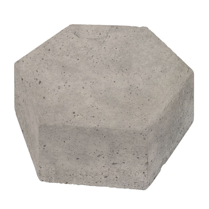 8x8 California Pavers Hexagon Natural Gray