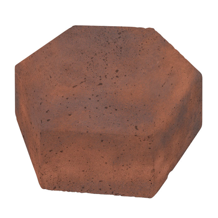 8x8 California Pavers Hexagon Red Flash
