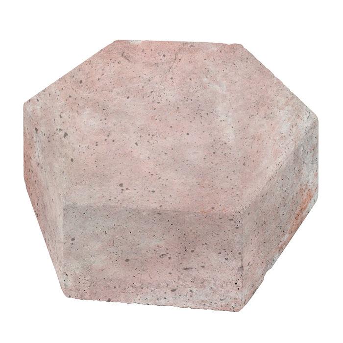 8x8 California Pavers Hexagon Rosa White Wash