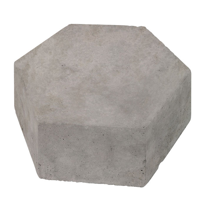 8x8 California Pavers Hexagon Sidewalk Gray