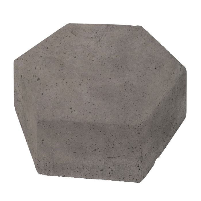 8x8 California Pavers Hexagon Smoke