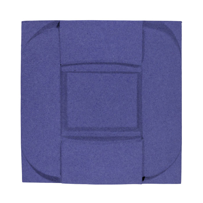 6x6 Ceramic Buckle Blue Satin 7684u