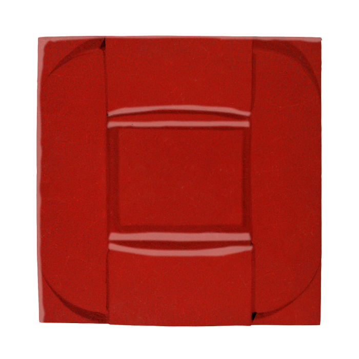 6x6 Ceramic Buckle Brick Red 7624c