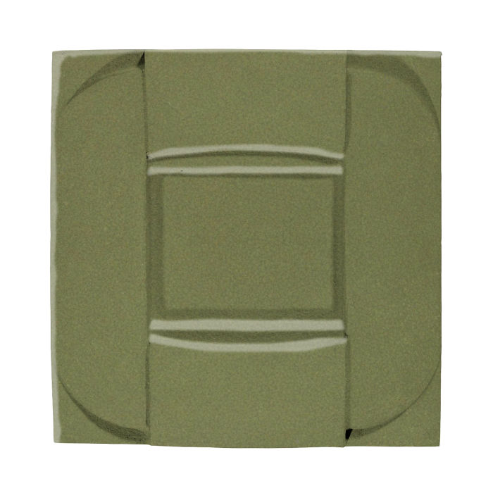 6x6 Ceramic Buckle Kelp 5615c