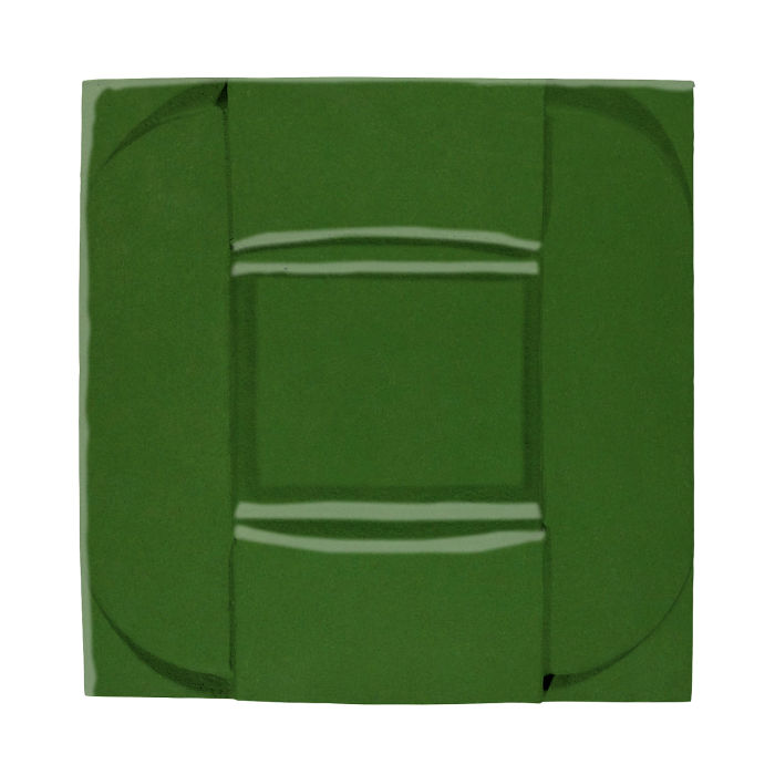 6x6 Ceramic Buckle Lucky Green 7734c