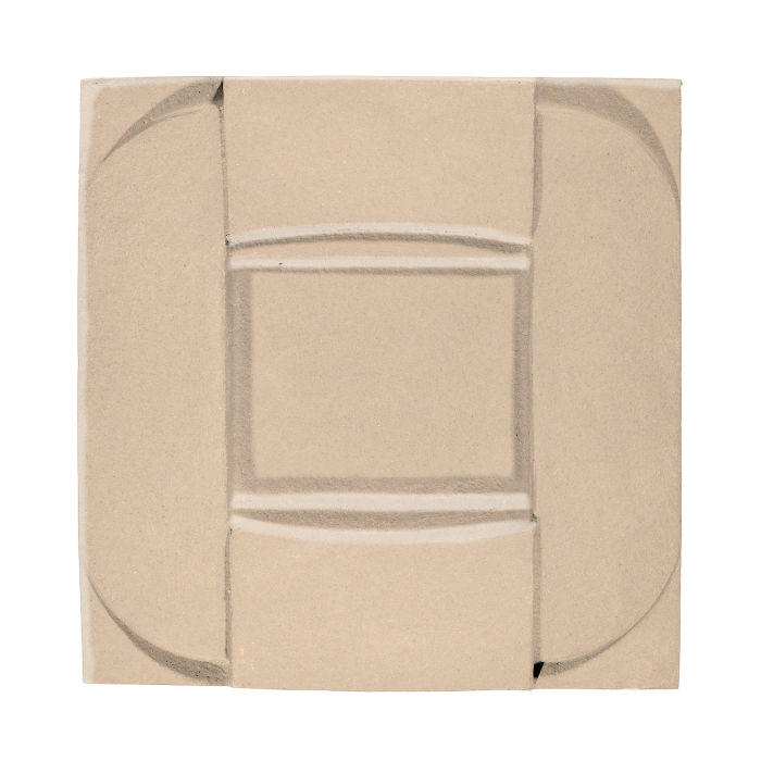 6x6 Ceramic Buckle White Bread 7506c