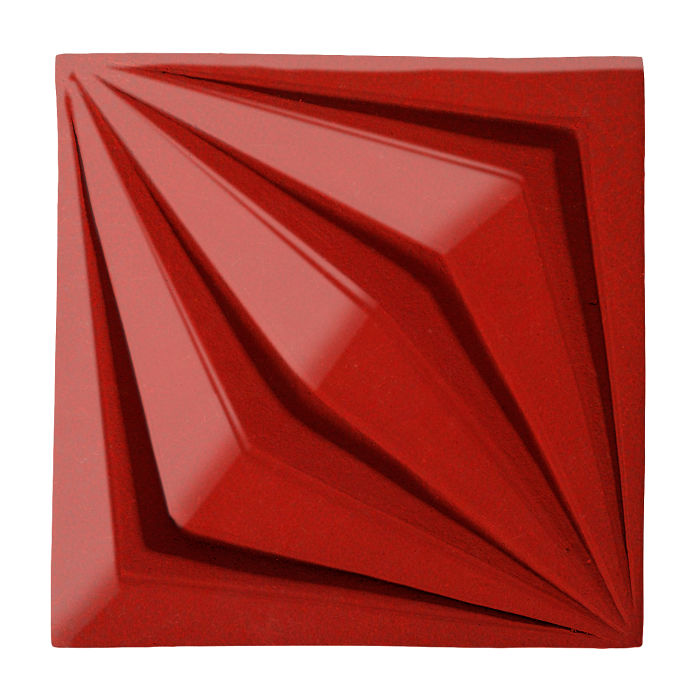 6x6 Ceramic Compass Star Brick Red 7624c