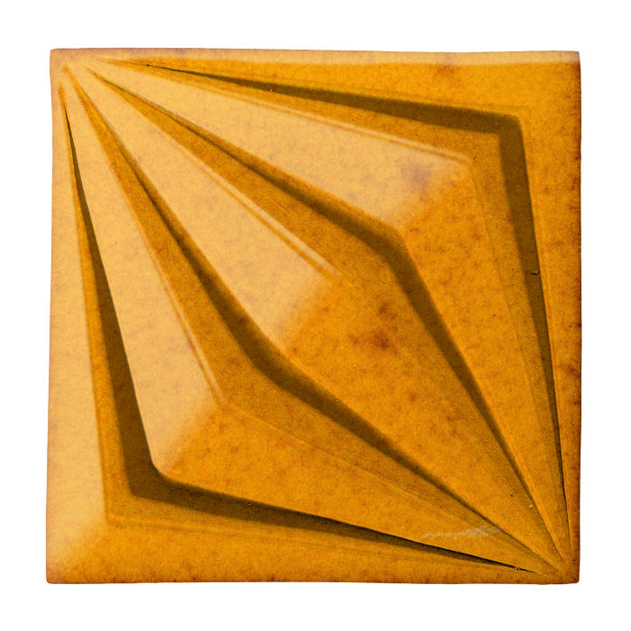 6x6 Ceramic Compass Star Cadmium Yellow