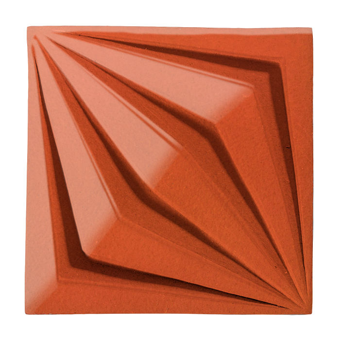 6x6 Ceramic Compass Star Hazard Orange