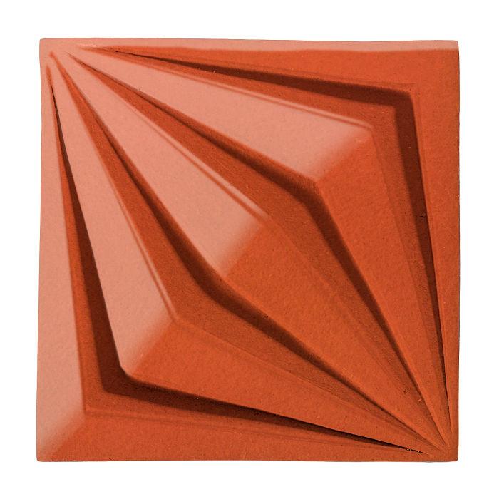 6x6 Ceramic Compass Star Hazard Orange
