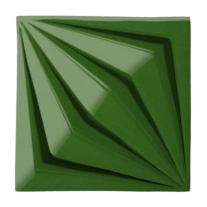 6x6 Ceramic Compass Star Lucky Green 7734c