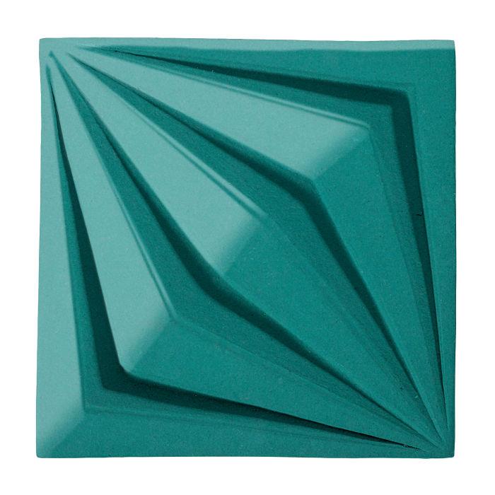 6x6 Ceramic Compass Star Real Teal 5483c