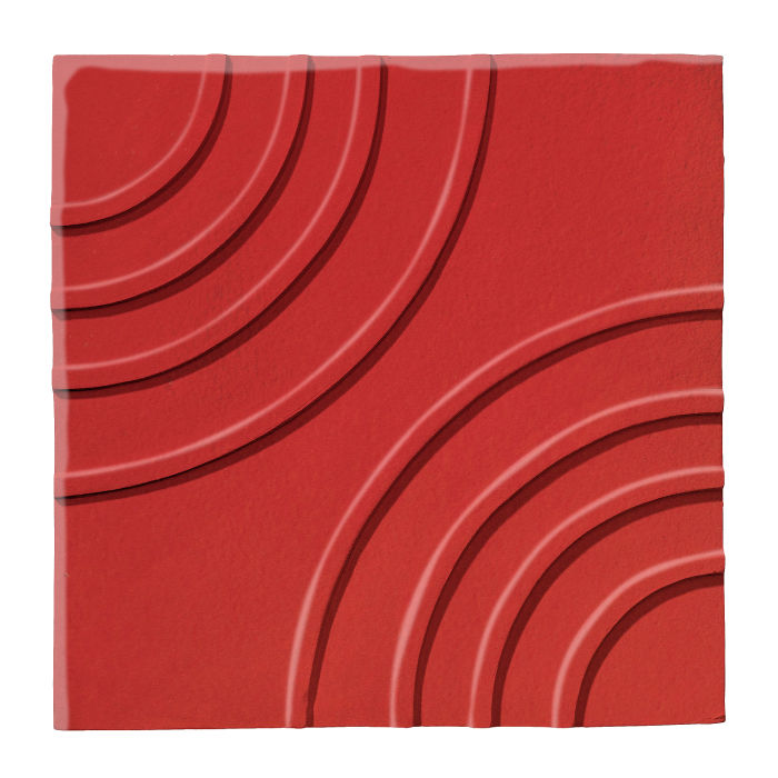 6x6 Ceramic Target Tile Apple Valley Red