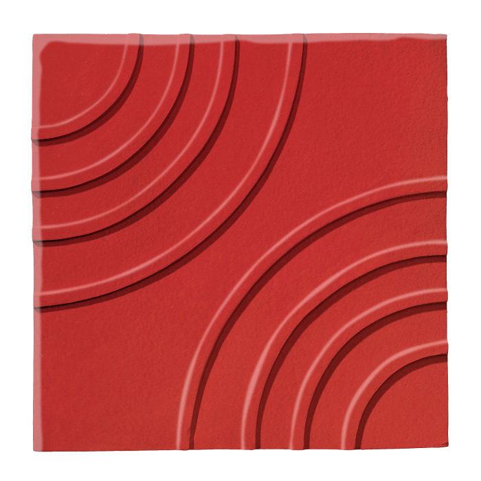 6x6 Ceramic Target Tile Apple Valley Red