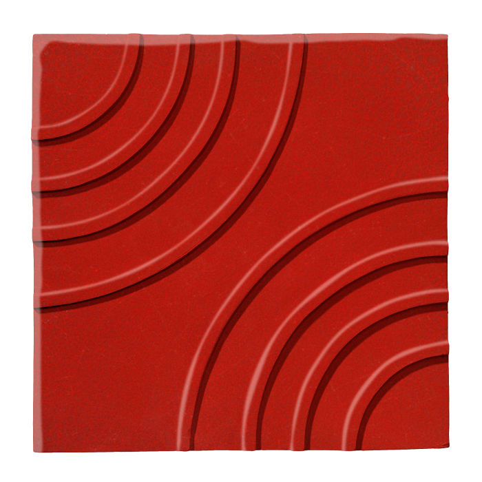 6x6 Ceramic Target Tile Brick Red 7624c