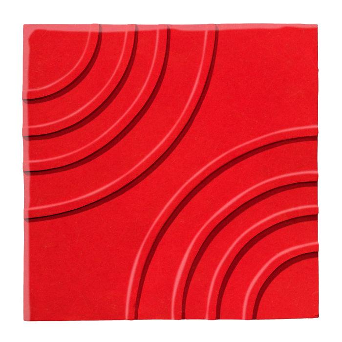 6x6 Ceramic Target Tile Cherry Tomato 7621c