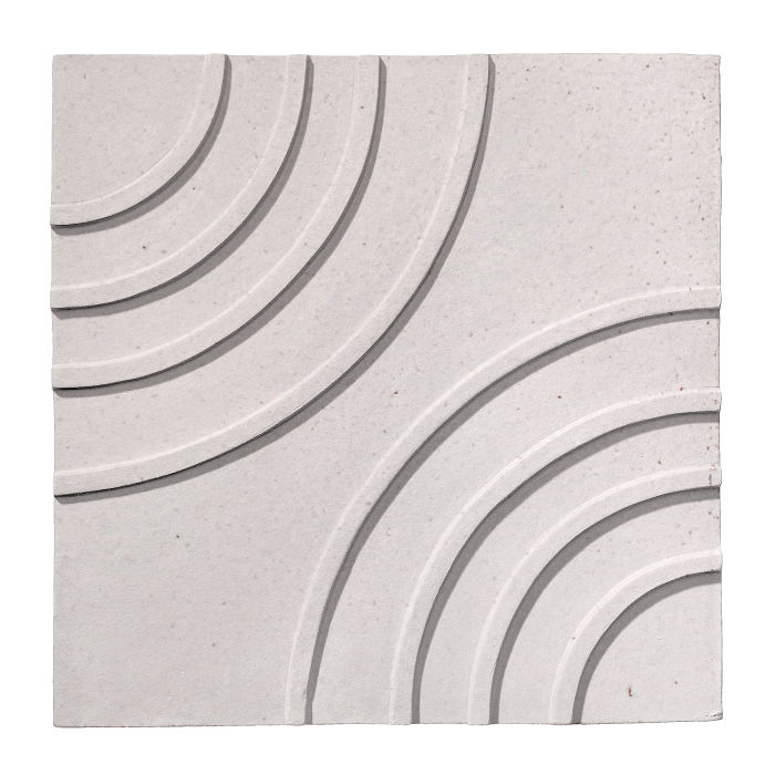 6x6 Ceramic Target Tile Great White