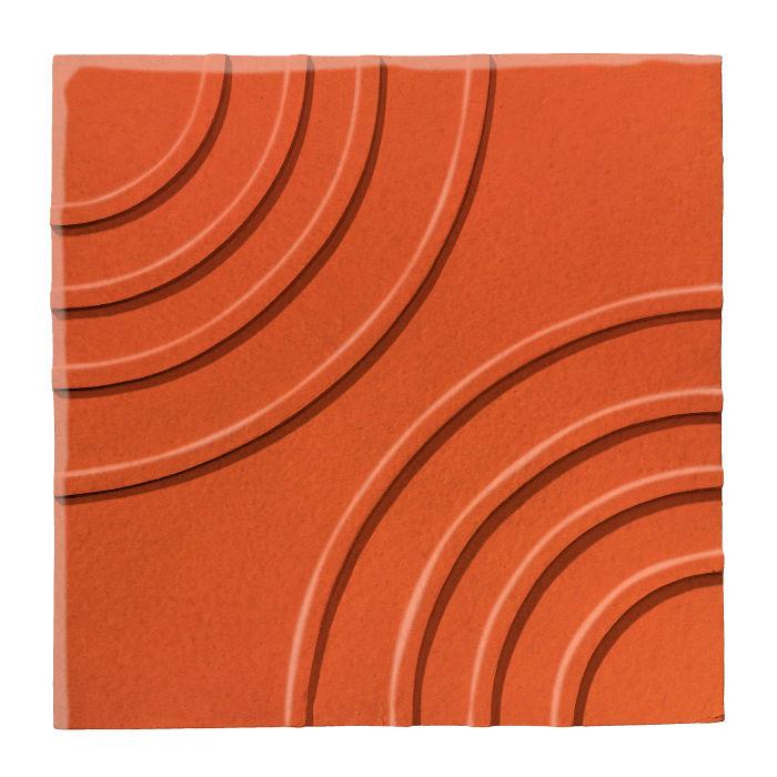 6x6 Ceramic Target Tile Hazard Orange