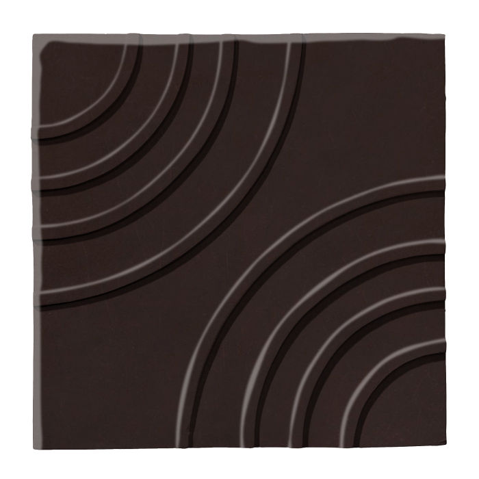 6x6 Ceramic Target Tile Licorice