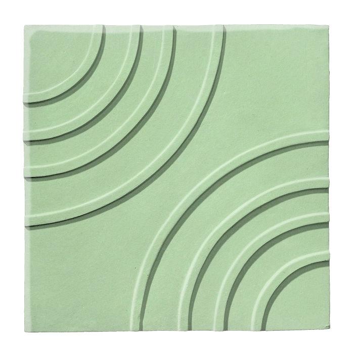 6x6 Ceramic Target Tile Peppermint
