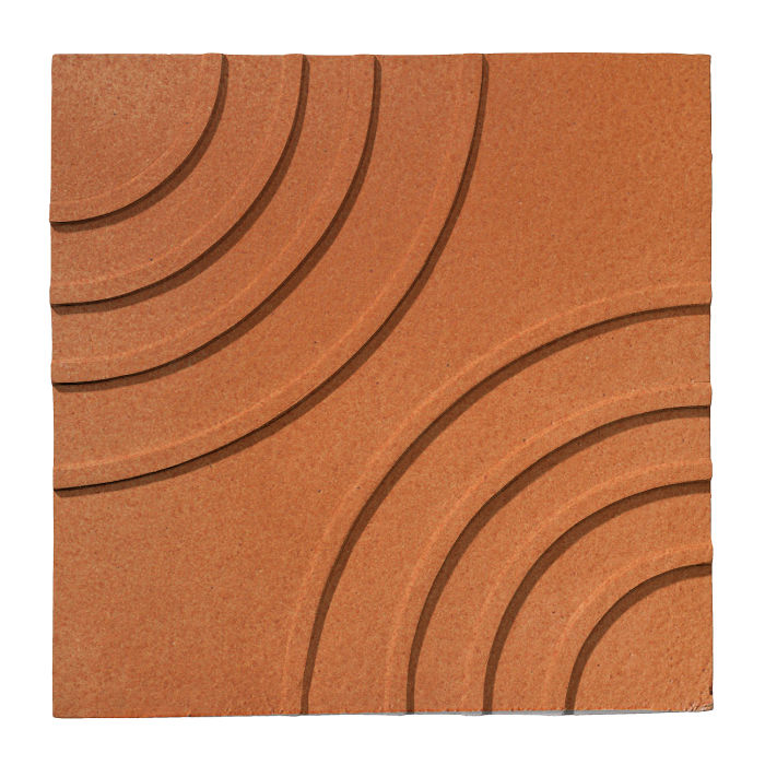 6x6 Ceramic Target Tile Red Iron