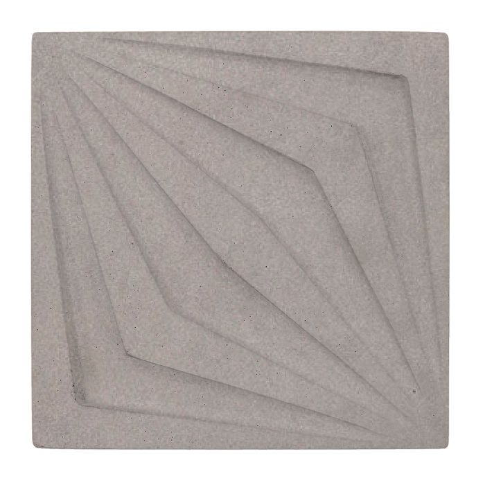 6x6 Compass Star Sidewalk Gray