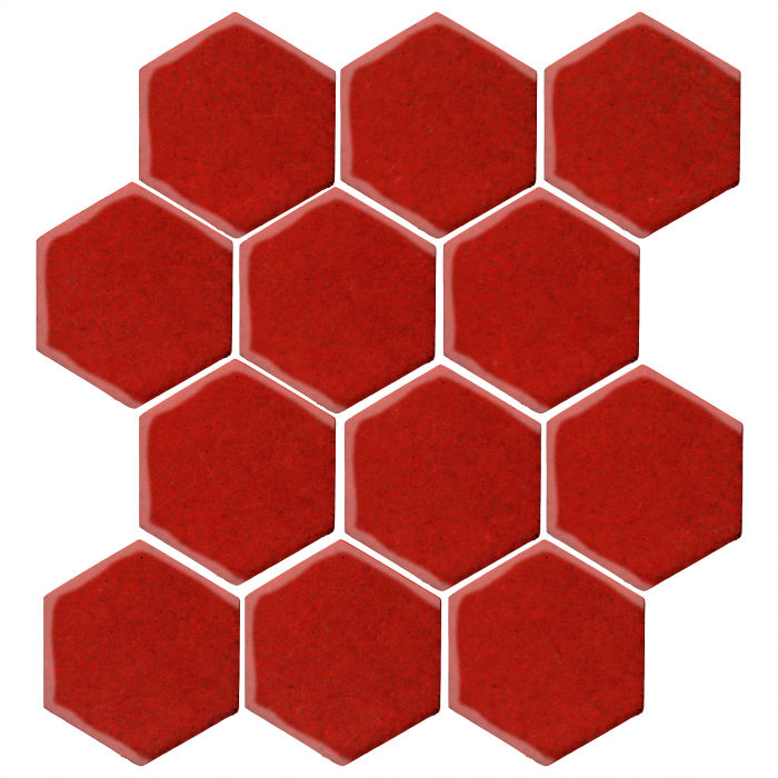 4x4 Monrovia Hexagon Brick Red 7624c