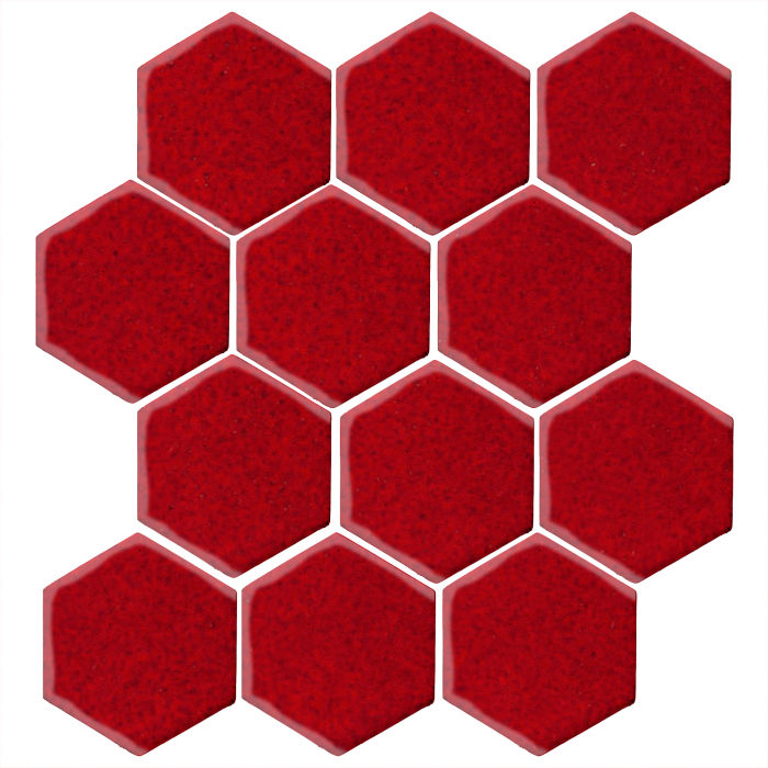 4x4 Monrovia Hexagon Cadmium Red 202c